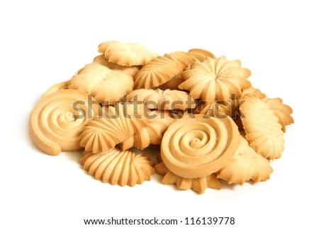 Sugar cookies on a white background