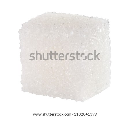 sugar cube isolated on a white background #1182841399