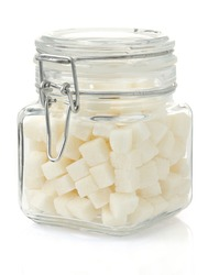 sugar cubes isolated on white background