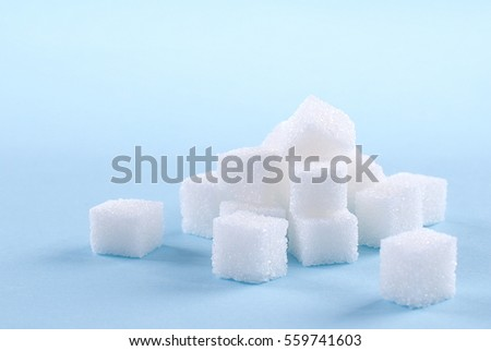 sugar cubes on an isolated background #559741603