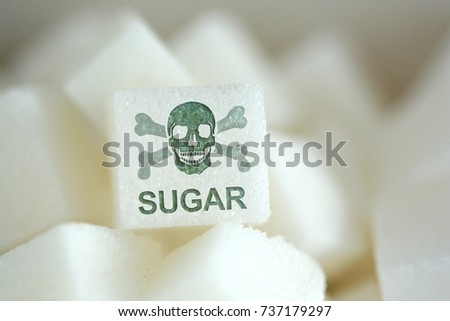 sugar cubes with human skull...