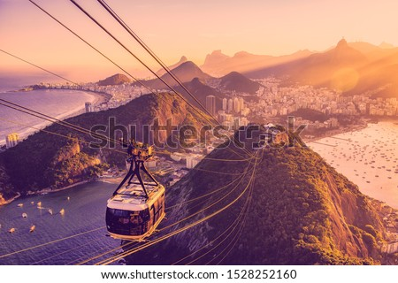 Sugar Loaf Cable Car, Touristic and Famous Destination and Viewpoint in Rio de Janeiro, Brazil #1528252160
