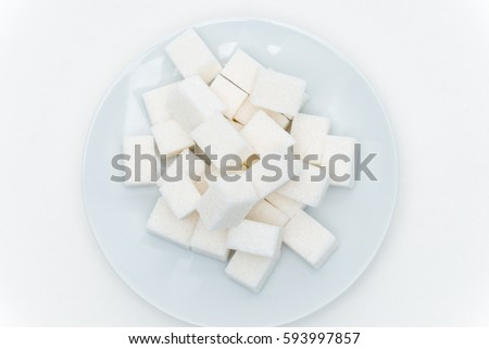 sugar on a plate on a light background #593997857