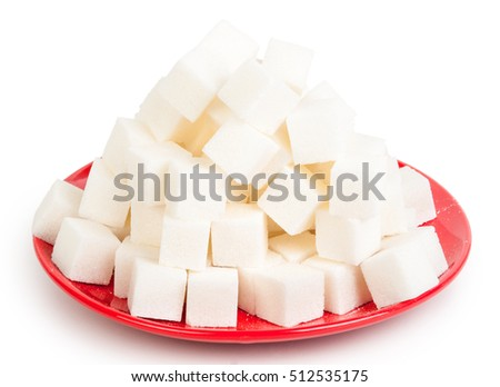 sugar on a red plate #512535175