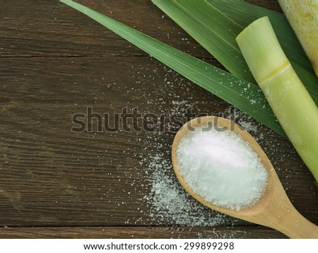 Sugar produced from sugar cane. Agriculture Industry concept