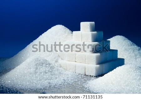 sugar pyramid and sand sugar #71131135