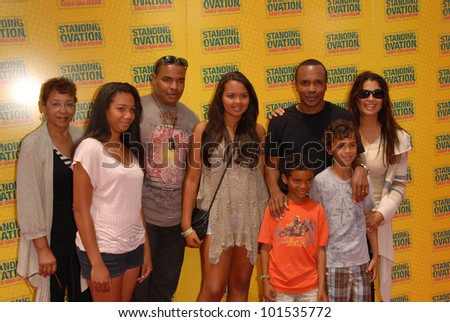 "Sugar Ray Leonard and family at the ""Standing Ovation"" Los Angeles Premiere, Universal CityWalk AMC Theatres, Universal City, CA. 07-10-10"