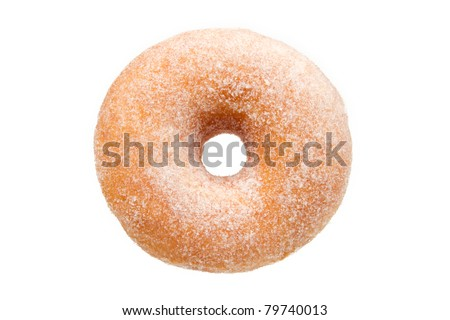 Sugar Ring Donut Isolated on a White Background