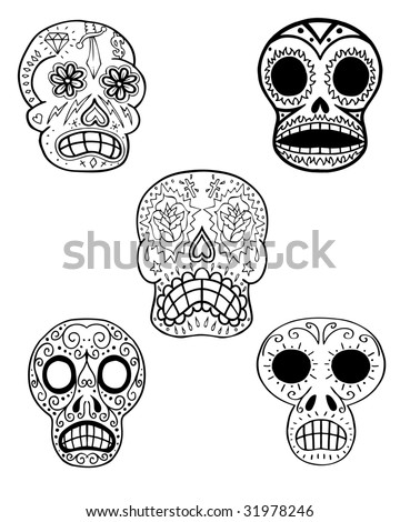 sugar skull tattoo. mexican sugar skull tattoo