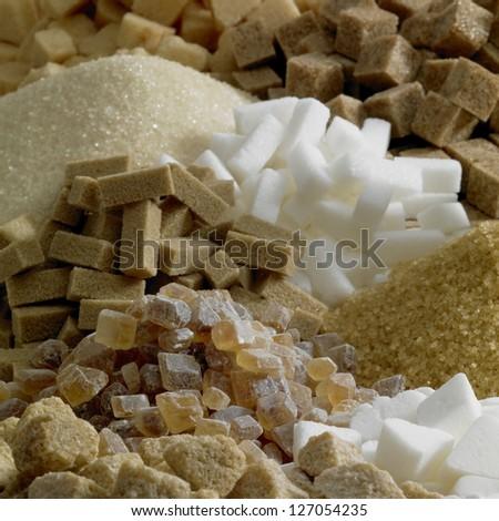sugar still life - stock photo