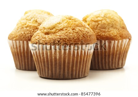 sugary muffins isolated on a white background