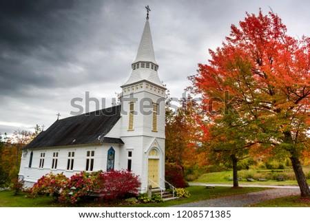 Suggar hill saint matthew chapel at fall #1208571385