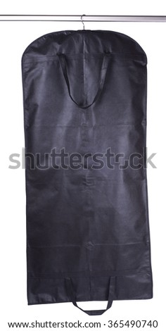 suit on a hanger