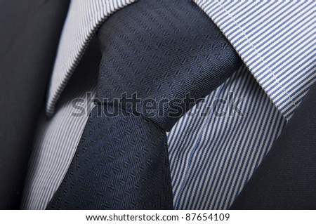 Suit, shirt and tie