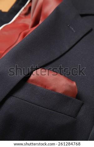 suit with pocket square, modern suit for men, blue suit