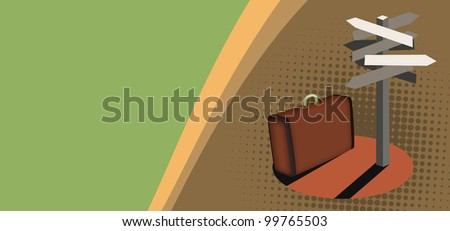 Suitcase background with space (poster, web, leaflet, magazine)