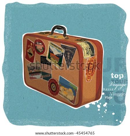 Suitcase Illustration - stock photo