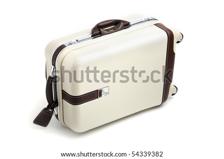 Suitcase isolated on white.