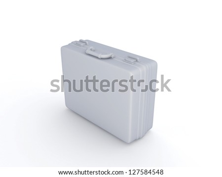 Suitcase.Isolated on white background.3d rendered.