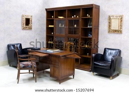 Suite of premium wooden office furniture