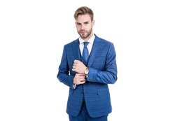 Suiting trend. Broker wear classic navy suit. Business formal style. Trendy menswear. Formalwear. Classy wardrobe. Being in line with latest fashion trend.