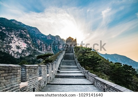 Suizhong County, Liaoning Province nine gate construction of the Great Wall landscape