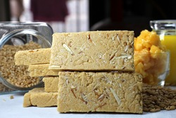 Sukhdi or Gol Papdi is traditional Gujarati sweet made from wheat flour,jaggery and desi ghee.
