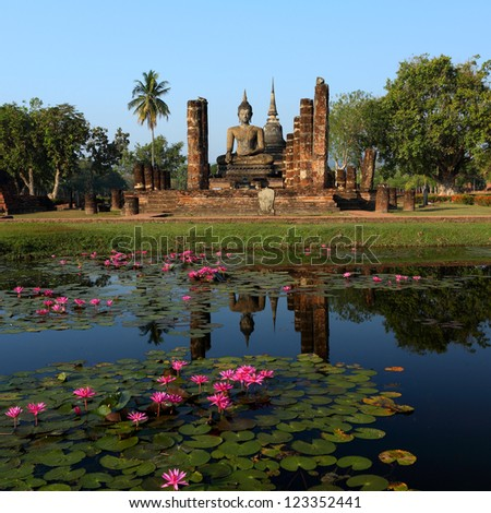 Sukhothai Historical Park, former capital city of Thailand