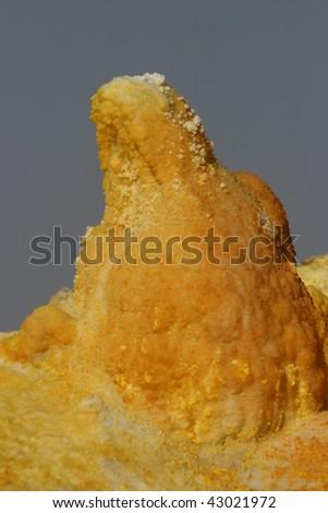 Sulfur salt Dalol volcano Ethiopia