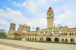 Sultan Abdul Samad building in Kuala Lumpur, Malaysia. The beautiful building is located in front of the Dataran Merdeka.