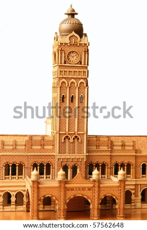 sultan abdul samad building model made from wood