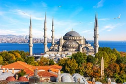 Sultan Ahmet Mosque, also known as Blue Mosque of Istanbul, Turkey