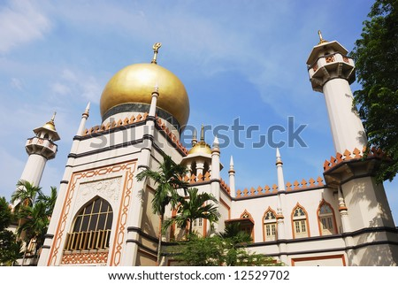 Sultan Mosque Singapore Picture on Sultan Mosque  One Of Singapore S Religious Buildings Stock Photo
