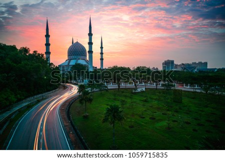 Sultan salahuddin abdul aziz shah mosque (The blue mosque), Kuala Lumpur Malaysia