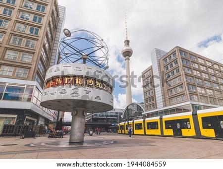 Summer at Alexanderplatz, Berlin, Germany Zdjęcia stock ©