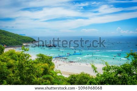 summer at lan island pattaya city thailand #1096968068