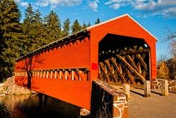 Summer at Sachs Covered Bridge, Gettysburg, Pennsylvania USA