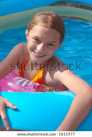 Summer backyard swim