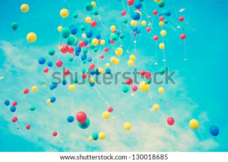 Summer Balloons Flying