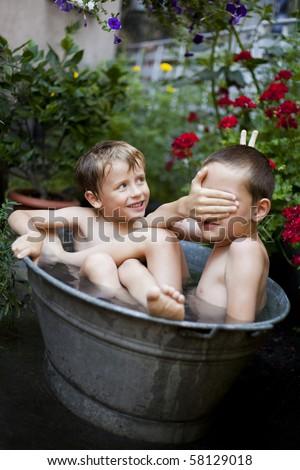 summer bath time