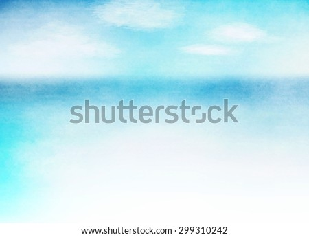 Summer beach. Abstract water color background