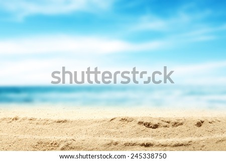 summer beach and sea  #245338750