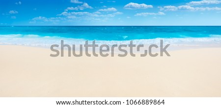 Summer beach and sea,panorama. #1066889864