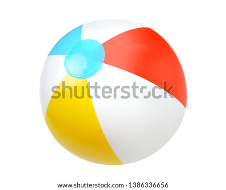 Summer beach  colorful water ball isolated.Single object. #1386336656