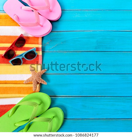 3dc26f3d0362f5 Free photos Summer background border blue beach deck copy space ...