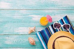 Summer beach, set of summer accessories