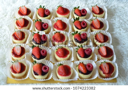 Summer berries cheesecake #1074223382