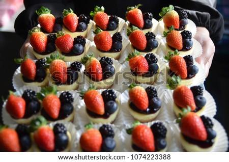Summer berries cheesecake #1074223388
