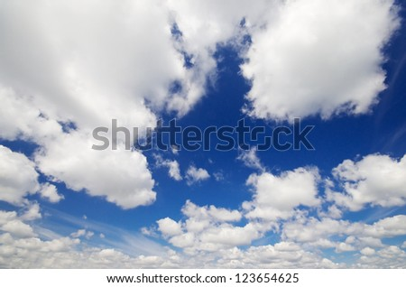 Summer blue sky with white clouds