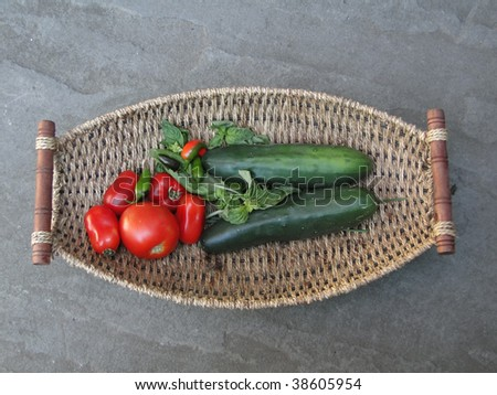 Summer bounty - Fresh vegetables in a woven basket   Seattle garden, Pacific Northwest